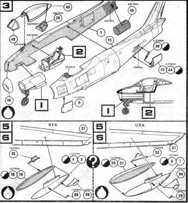 North American F 86 Sabre 172 Kits
